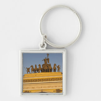 Dvortsovaya Square, Triumphal Arch, sunset Keychain