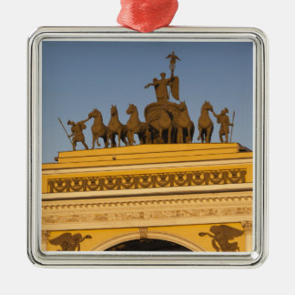 Dvortsovaya Square, Triumphal Arch, sunset Metal Ornament