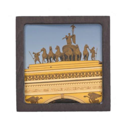 Dvortsovaya Square, Triumphal Arch, sunset Premium Trinket Boxes