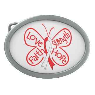 DVT Butterfly Inspiring Words Oval Belt Buckle
