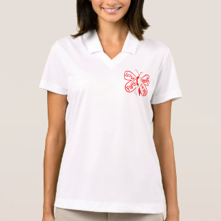 DVT Butterfly Inspiring Words Polo Shirts