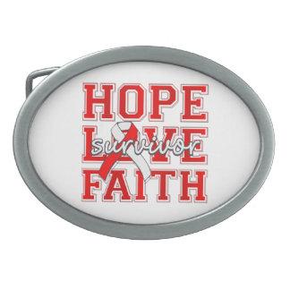 DVT Hope Love Faith Survivor Oval Belt Buckles