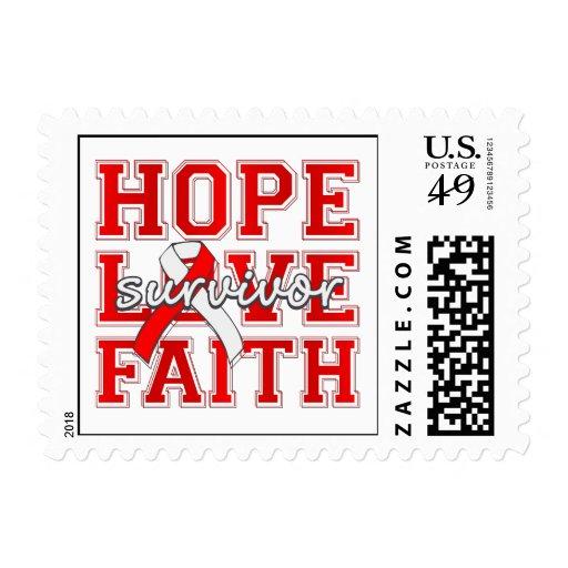 DVT Hope Love Faith Survivor Stamps