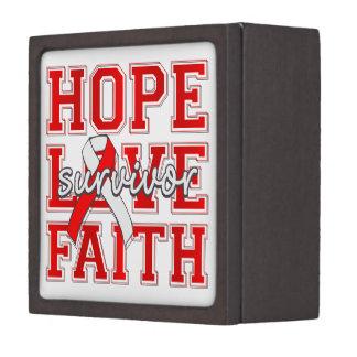 DVT Hope Love Faith Survivor Premium Trinket Boxes