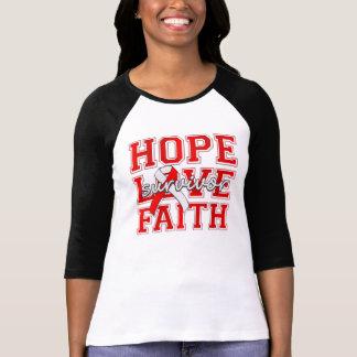 DVT Hope Love Faith Survivor Tee Shirt