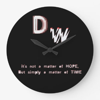 DW LOGO Slogan Large Clock
