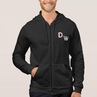 DW LOGO: Style: Men's American Apparel fleece zip Hoodie