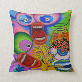 """Dwainizms Colorful """"OH NO!"""" Throw Pillow 16""""x16"""""""
