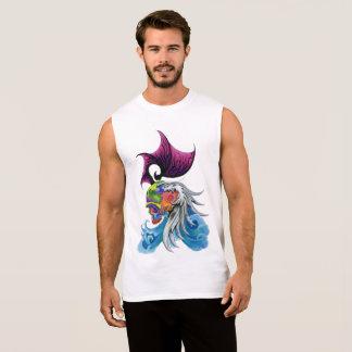 "Dwainizms ""Dragon Skull"" Men's Cotton Sleeveless T Sleeveless Shirt"