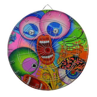 """Dwainizms """"OH NO!"""" Colorful Metal Cage Dartboard"""