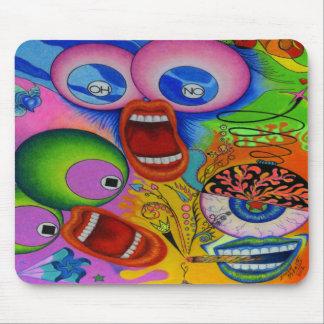"""Dwainizms """"OH NO"""" Vividly Colored Mousepad"""