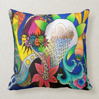 "Dwainizms ""Rain Flower"" Throw Pillow 16 x 16"