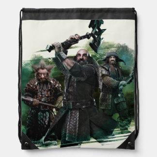 Dwalin, Nori, & Bofur Graphic Drawstring Bag