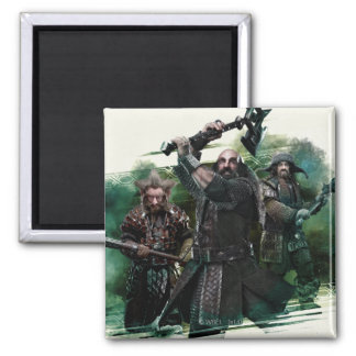 Dwalin, Nori, & Bofur Graphic Magnet