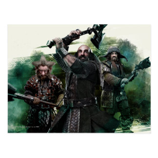 Dwalin, Nori, & Bofur Graphic Postcard