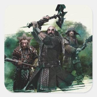 Dwalin, Nori, & Bofur Graphic Square Sticker