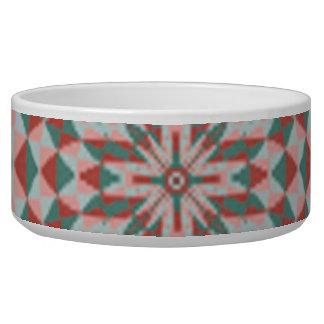 Dwan abstract colorful circle pattern pet food bowls