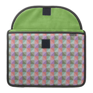 dwan abstract square and triangle MacBook pro sleeves