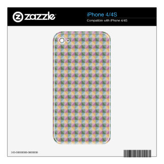 Dwan Abstract  square and triangle pattern iPhone 4 Decals