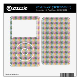 Dwan Abstract  square and triangle pattern Decal For iPod