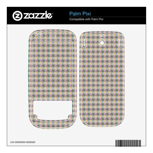 Dwan Abstract  square and triangle pattern Decals For The Palm Pixi