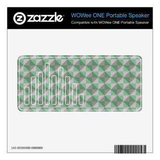 Dwan abstract square and triangle pattern skin for WOWee speaker