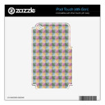 Dwan Abstract  square and triangle pattern Decals For iPod Touch 4G
