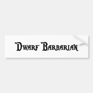 Dwarf Barbarian Bumper Sticker