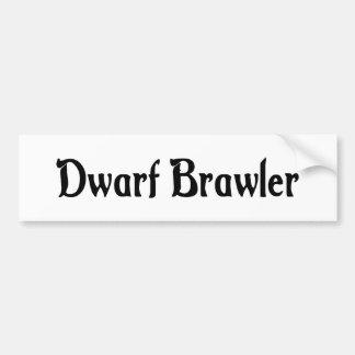 Dwarf Brawler Sticker Bumper Sticker