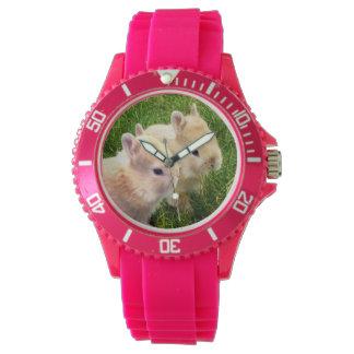 Dwarf_Bunnies_Pink_Sports_Watch Reloj De Mano