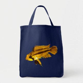 Dwarf Cichlid Grocery Tote Bag