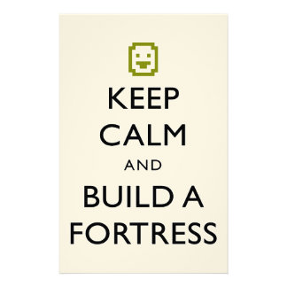 Dwarf Fortress Keep Calm and Build a Fortress Item Stationery