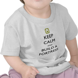 Dwarf Fortress Keep Calm and Build a Fortress Item Tee Shirt