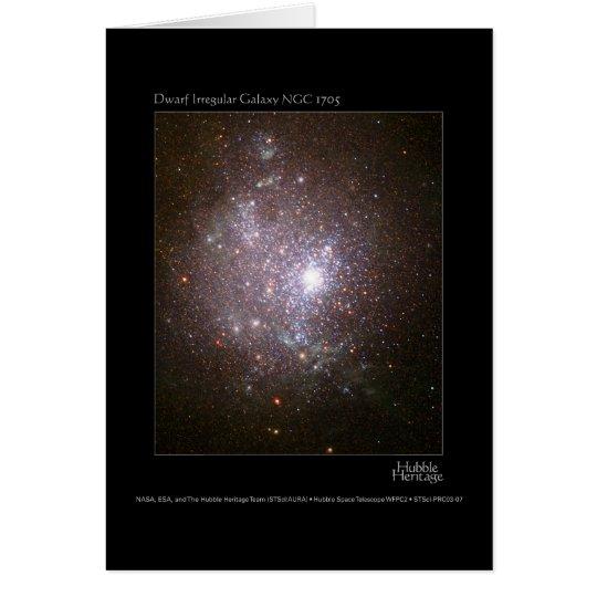 Dwarf Galaxy NGC 1705 Hubble Telescope Card
