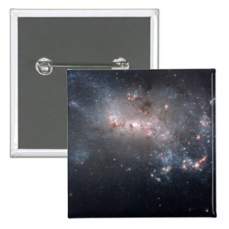 Dwarf Galaxy NGC 4449 2 Inch Square Button