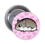 Dwarf Hamster Love 2 Inch Round Button