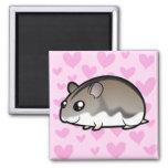 Dwarf Hamster Love 2 Inch Square Magnet