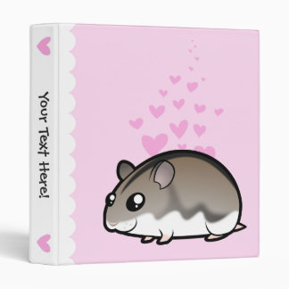 Dwarf Hamster Love 3 Ring Binder