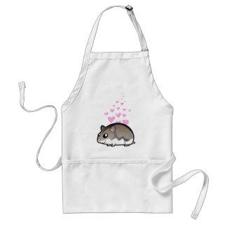Dwarf Hamster Love Adult Apron