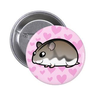Dwarf Hamster Love Pinback Button