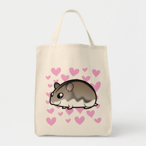 Dwarf Hamster Love Canvas Bags