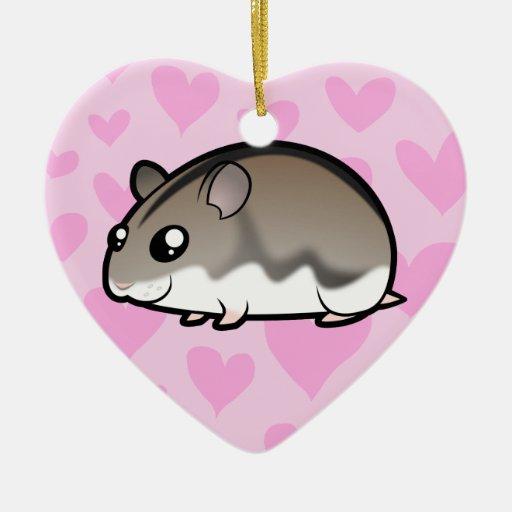 Dwarf Hamster Love Ceramic Ornament