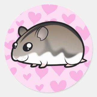 Dwarf Hamster Love Classic Round Sticker