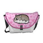 Dwarf Hamster Love Messenger Bags