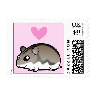 Dwarf Hamster Love Postage Stamp