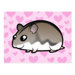 Dwarf Hamster Love Postcard