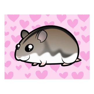 Dwarf Hamster Love Postcards