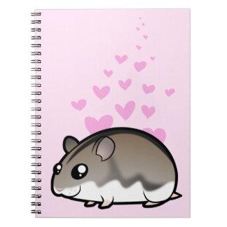 Dwarf Hamster Love Spiral Notebook