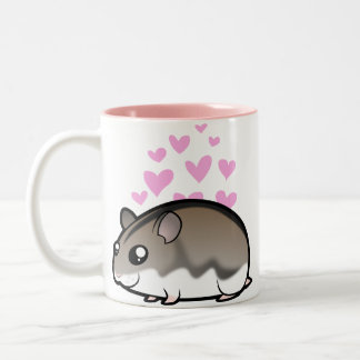 Dwarf Hamster Love Two-Tone Coffee Mug