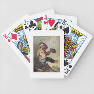 Dwarf Holding a Jug (oil on canvas laid down on pa Bicycle Playing Cards